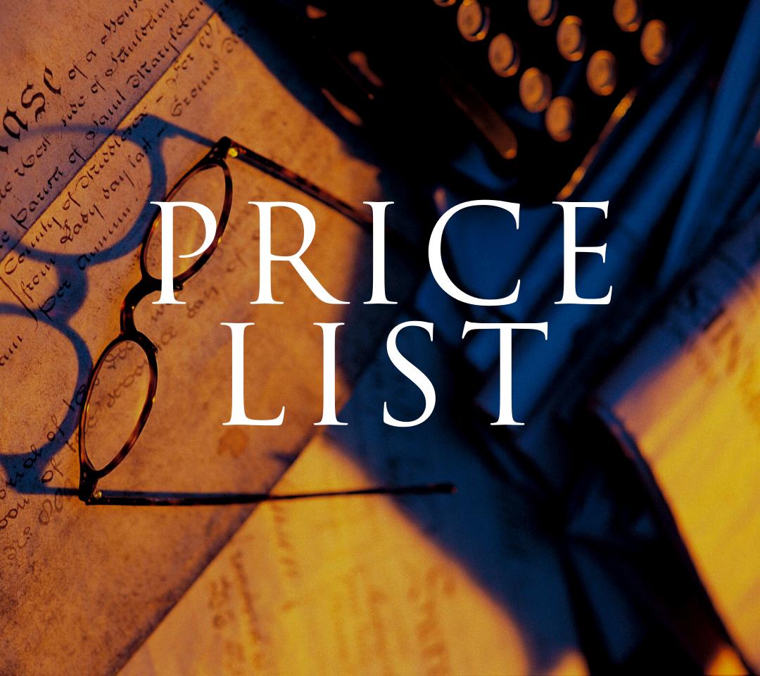 CAF price list block